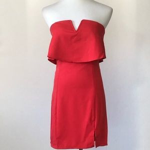 She and Sky Sexy Strapless Red Dress NWT